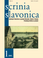 Scrinia Slavonica 1(2001)