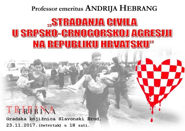 Tribina dr. Andrije Hebranga - Plakat